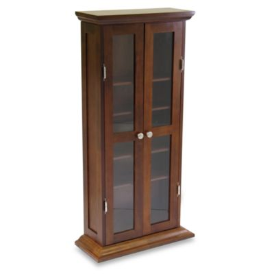 Antique Walnut Media Cabinet