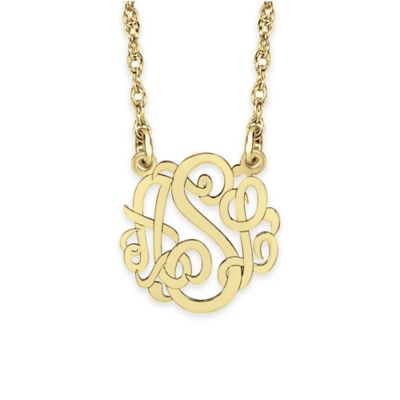 Alison & Ivy® Sterling Silver 10mm Script Letter Pendant Necklace