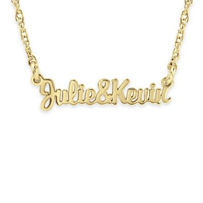 Alison & Ivy® 24K Yellow Gold-Plated Sterling Silver18-Inch Couples Nameplate Necklace