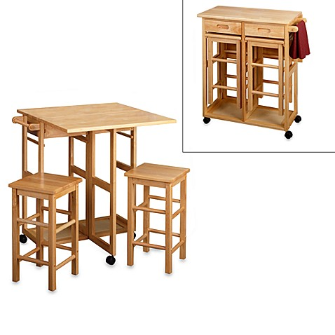 Buy breakfast bar tables from bed bath beyond for Small space saving kitchen tables