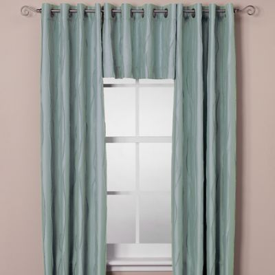 Venice Window Curtain Panel - 84-Inch - Aqua