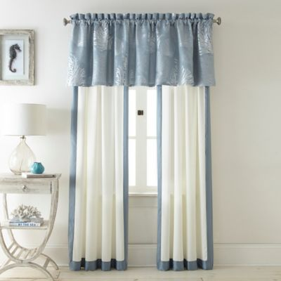 Siesta Key Window Valance in Blue