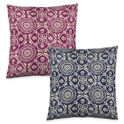 Colorfly™ Adara Throw Pillow in Ink (Set of 2)