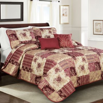 Scarlett Full/Queen Quilt Set in Red