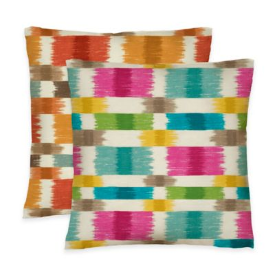 Colorfly™ Barnaby Reversible Throw Pillow in Spice (Set of 2)