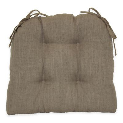 Midtown Tufted Waterfall Chair Pad in Taupe