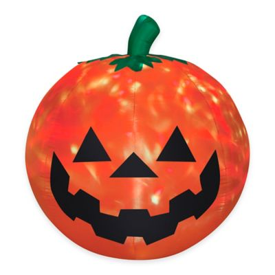 Inflatable Outdoor 5-Foot Projection Fire and Ice Pumpkin