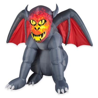 Inflatable Outdoor 66-Inch Projection Fire & Ice Gruesome Gargoyle