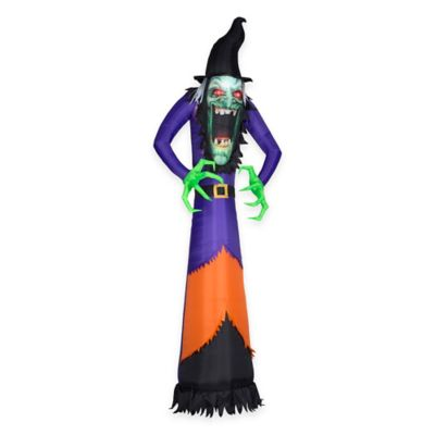 Inflatable Outdoor 12-Foot Realistic Green Witch
