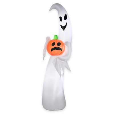 Inflatable 7-Foot Ghost with Pumpkin