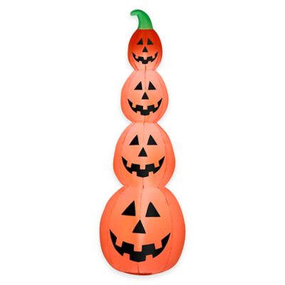 Inflatable 7-Foot Pumpkin Stack