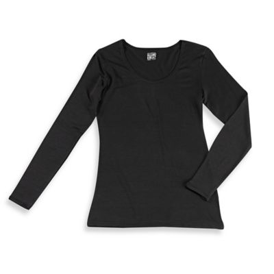32º Heat™ Women's Small Long Sleeve Scoop Thermal Top in Black