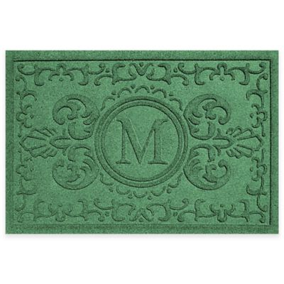 Weather Guard™ Baroque 2-Foot x 3-Foot Door Mat in Light Green