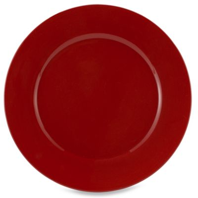 Tabletops Unlimited® Misto Round Dinner Plate in Red