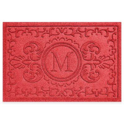 Weather Guard™ Baroque 2-Foot x 3-Foot Door Mat in Red
