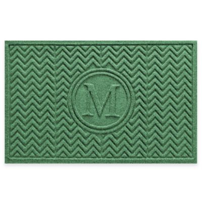 Weather Guard™ Chevron 23-Inch x 36-Inch Door Mat in Light Green