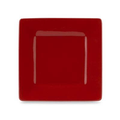 Tabletops Unlimited® Misto Square Salad Plate in Red