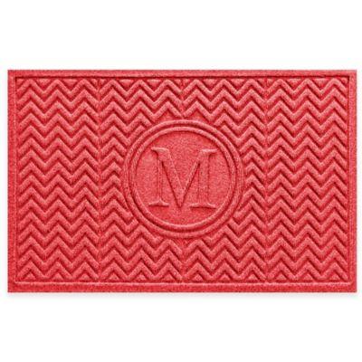 Weather Guard™ Chevron 23-Inch x 36-Inch Door Mat in Red