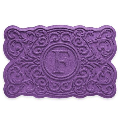 Purple Monogrammed Door Mat