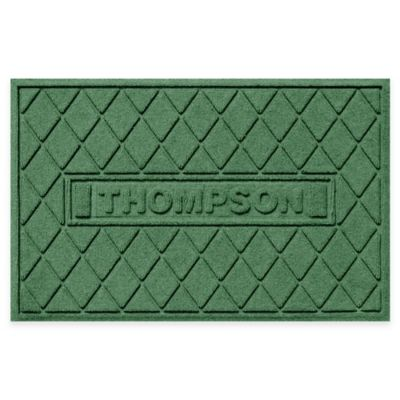 Weather Guard™ Argyle 23-Inch x 36-Inch Door Mat in Light Green