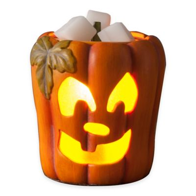 Scary Pumpkin Ceramic Wax Warmer
