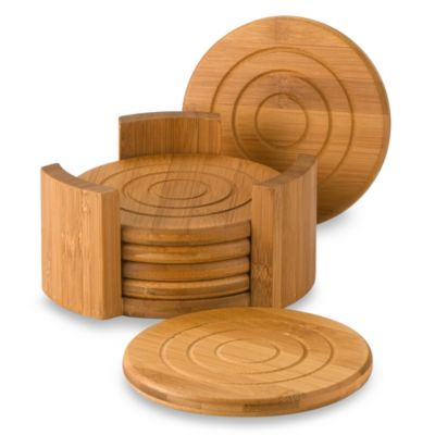 Lipper International Bamboo Coasters (Set of 6)