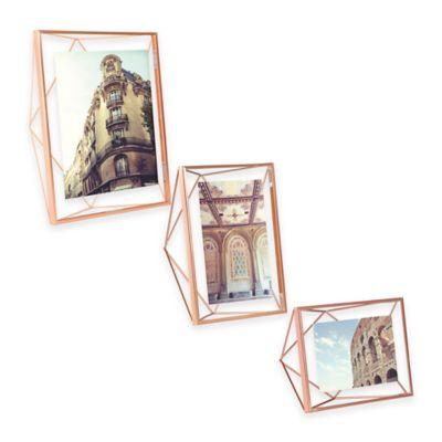 Umbra® Prisma 4-Inch x 4-Inch Photo Frame in Copper