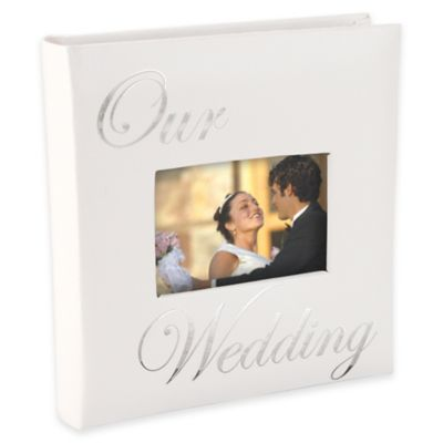 "Malden® 160-Photo ""Our Wedding"" Album in White"