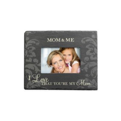 "Grassland Roads 4-Inch x 6-Inch ""Mom & Me"" Slate Frame in Black"