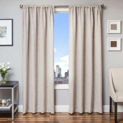 Beckett 63-Inch Window Curtain Panel in Linen