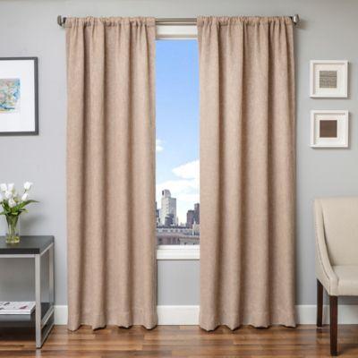 Beckett 108-Inch Window Curtain Panel in Sand