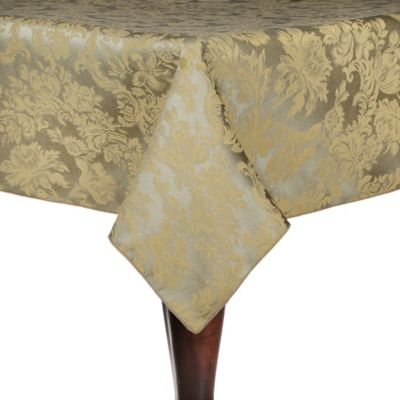 Miranda Damask 54-Inch x 54-Inch Oblong Tablecloth in Champagne