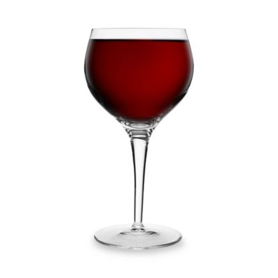 Clear Burgundy Glasses