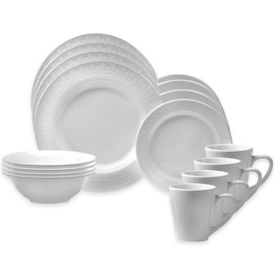 Oneida® Kato 16-Piece Dinnerware Set in White