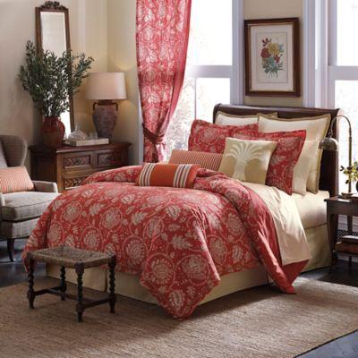 Inspired by Kravet Alsace California King Comforter Set in Persimmon