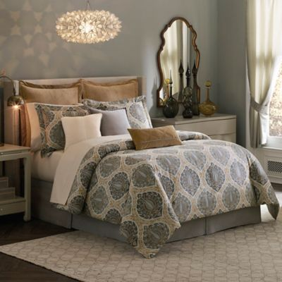 Inspired by Kravet Jaipur Queen Comforter Set in Yellow/Gold