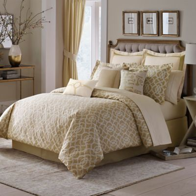 Inspired by Kravet Lions Gate Queen Comforter Set in Gold
