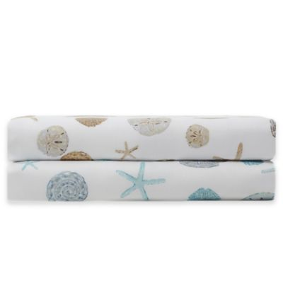 Panama Jack® 300-Thread-Count Sand Dollar Printed King Sheet Set in Sand