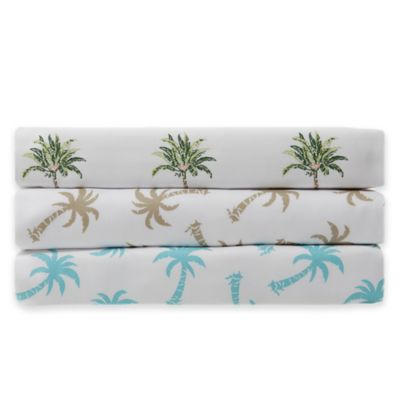 Panama Jack® 300-Thread-Count Palm Tree Twin Sheet Set in Green