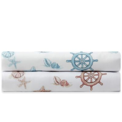 Panama Jack® 300-Thread-Count Nautical Twin Sheet Set in Blue
