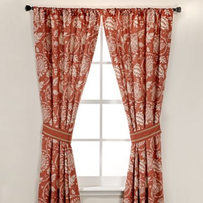 Inspired by Kravet Alsace 84-Inch Window Panel Pair in Persimmon