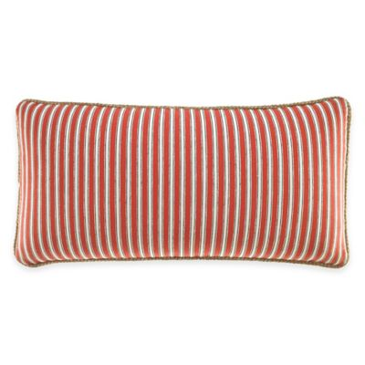 Inspired by Kravet Alsace Stripe Oblong Throw Pillow in Persimmon