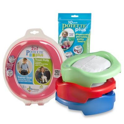 Potette® Plus 2-in-1 Travel Potty & Trainer Seat by Kalencom in Red