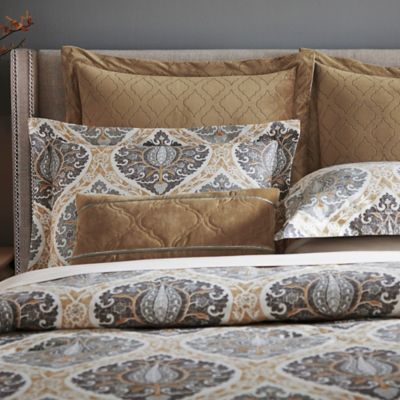 Inspired by Kravet Jaipur European Pillow Sham in Gold