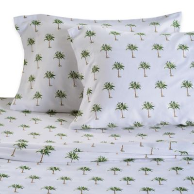 Panama Jack® 300-Thread-Count Palm Tree King Sheet Set in Green