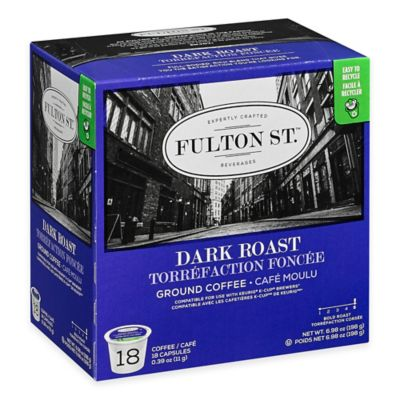 18-Count Fulton St.™ Dark Roast RealCup™ Coffee for Single Serve Coffee Makers
