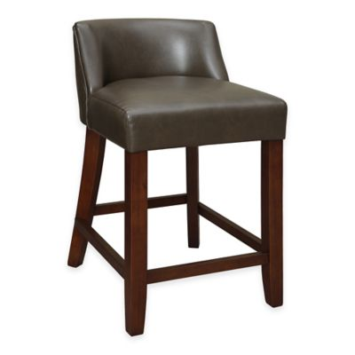 Landon Low-Back Counter Stool in Chocolate