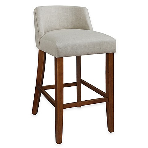 Buy Landon Low Back Bar Stool In Linen From Bed Bath Amp Beyond