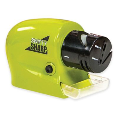 Swifty Sharp™ Cordless Motorized Knife Sharpener in Green