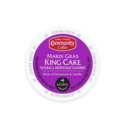 Keurig® K-Cup® Pack 18-Count Community Coffee® Mardi Gras King Cake